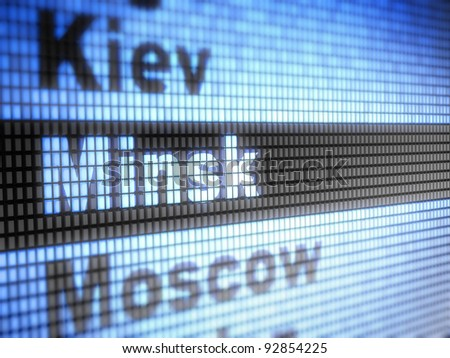 Minsk. World capitals Full collection of icons like that is in my portfolio - stock photo