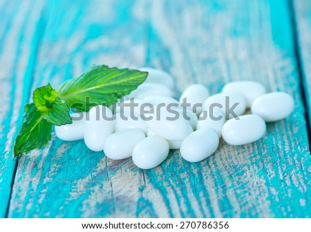 mint candy - stock photo