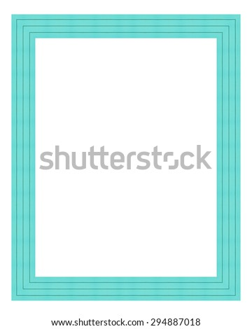 Mint Color Wooden Frame Isolated On Stock Photo (Royalty Free ...