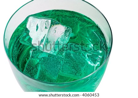 Mint  drink with ice cubes  (3)