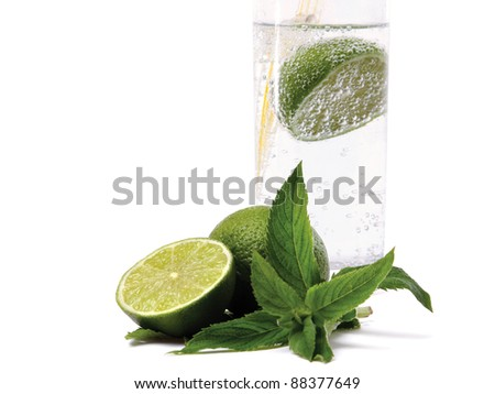 Mint, lime - stock photo