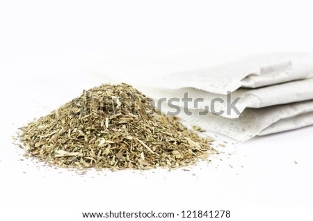 Mint tea isolated on white background