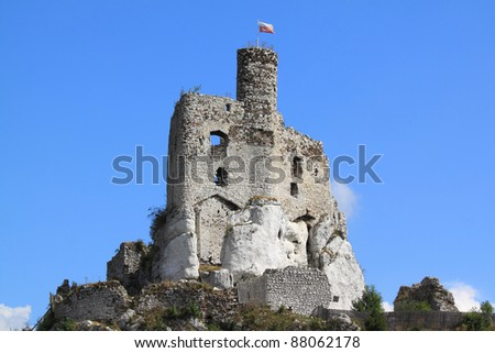 Mirow castle - old fortress in Poland. Landmark in Europe. - stock photo