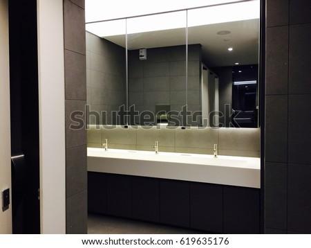 Public Bathroom Mirror public restroom mirror stock images, royalty-free images & vectors