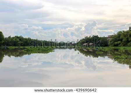 Mirror river reflect sky and cloud