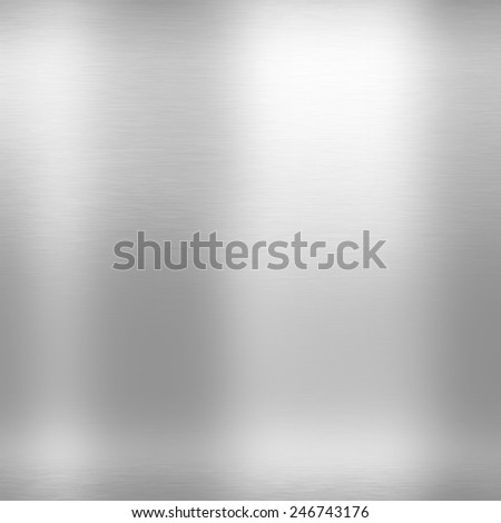 mirror, silver metal texture background - stock photo