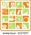 Miscellaneous multimedia raster icons. Vector version is available in my portfolio - stock photo