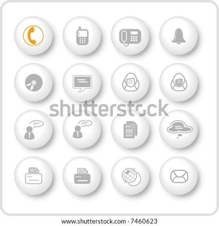 Miscellaneous office and communication raster icons. Vector version is available in my portfolio - stock photo