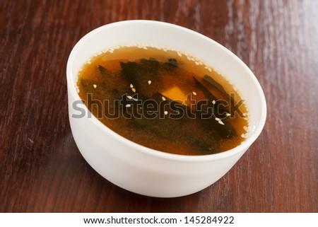 Miso soup , Japanese Food - stock photo