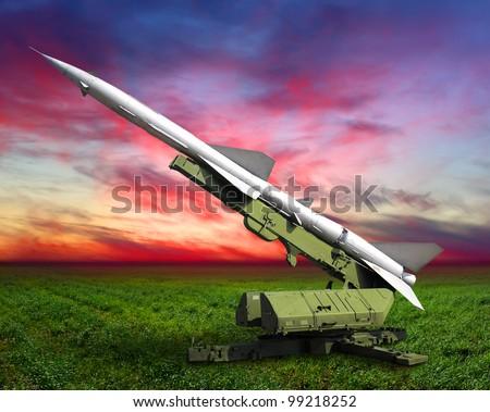 Missile defense - stock photo