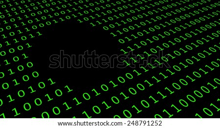 Missing data in database - stock photo