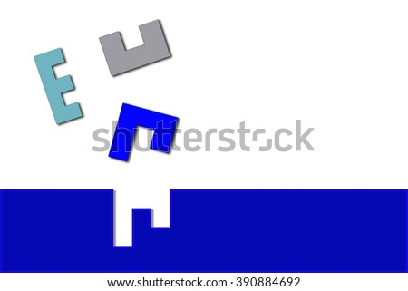 Missing jigsaw puzzle piece on white background, business concept for solutions - stock photo