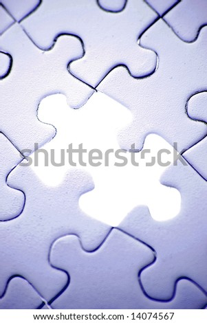 Missing piece in jigsaw puzzle