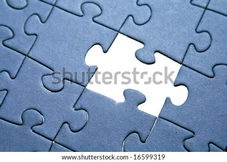 Missing piece of puzzle - stock photo