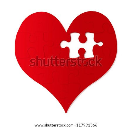 Missing Piece To My Heart - stock photo