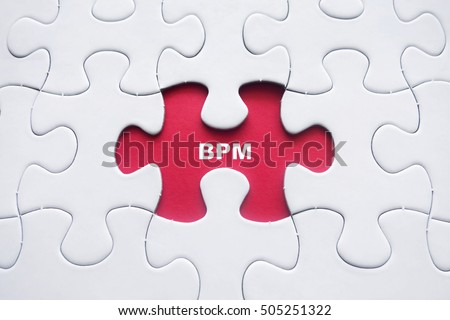 Missing puzzle with BPM stand for Business Process Management word