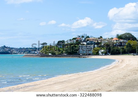 Mission bay beautiful whitesand beach which stock photo - Mission bay swimming pool auckland ...