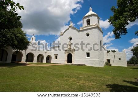 Mission nuestra senora del espiritu santo de zuniga in goliad, texas - stock photo