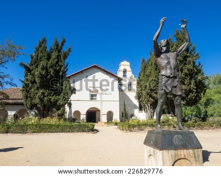Mission San Juan Bautista is a Spanish mission in San Juan Bautista, California. - stock photo