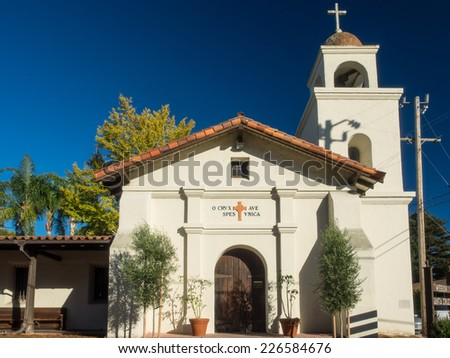 Mission Santa Cruz was a Spanish mission founded by the Franciscan order in present-day Santa Cruz, California. - stock photo