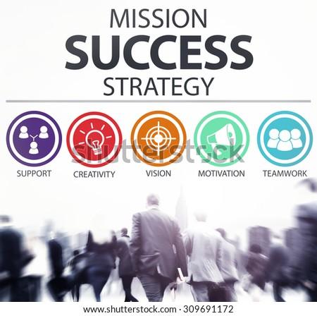 Mission Success Strategy Achievement Strategy Concept - stock photo