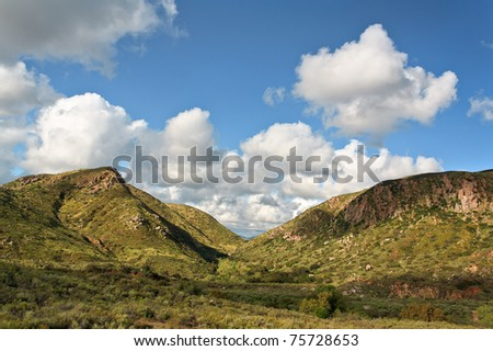 Mission Trails Regional Park in San Diego, CA - stock photo