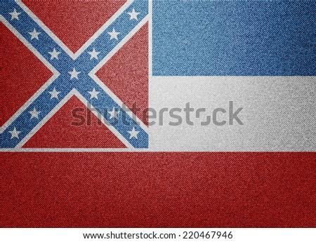 Mississippi flag - stock photo