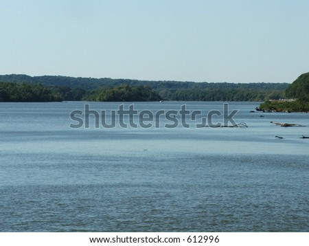 mississippi river - stock photo
