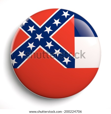 Mississippi state flag isolated icon. - stock photo