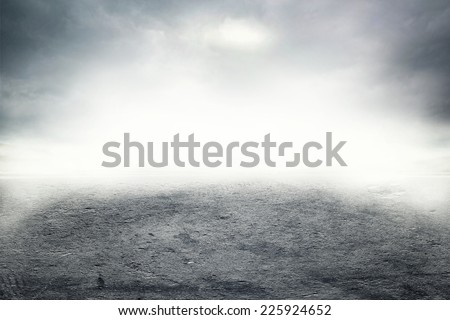 Mist on the road - stock photo