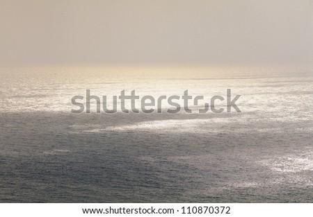 Mist over sea - stock photo