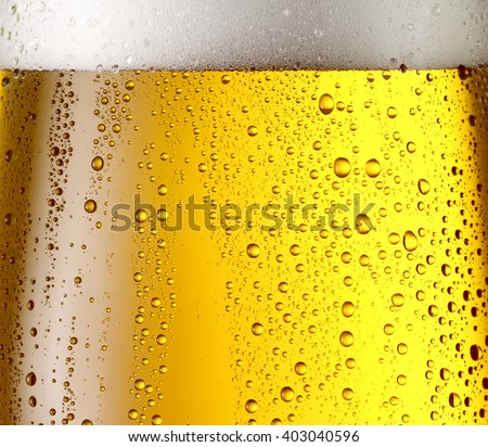 Misted glass of beer. Close up shot. - stock photo