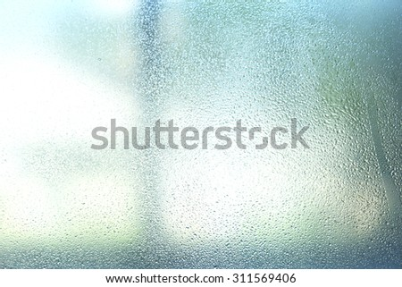 Misted window background - stock photo