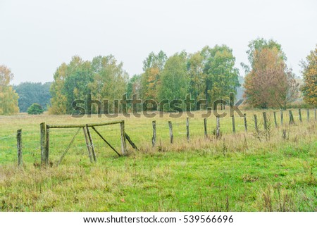 Field surrounded tree stock images royalty free images vectors shutterstock - Rustic wood fences a pastoral atmosphere ...