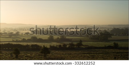 Misty Cotswold Dawn