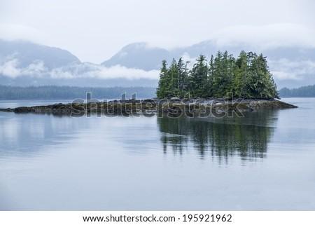 Misty Fjord at Ketchikan Alaska - stock photo