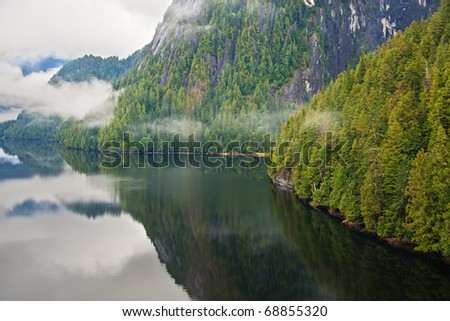 Misty Fjords National Monument, Alaska - Aerial view from a floatplane - stock photo