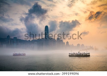 Misty Harbor - Victoria Harbor of Hong Kong