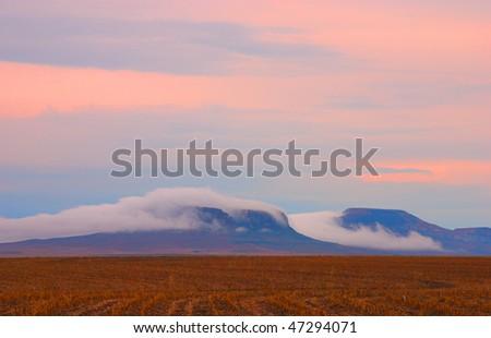 Misty mountain, Reitz, Free state, South Africa - stock photo