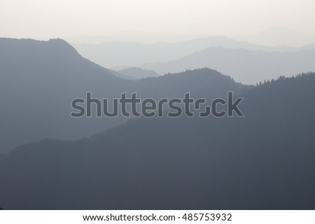 Misty Mountain Valley at Sunset