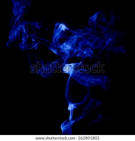 misty smoke on black background