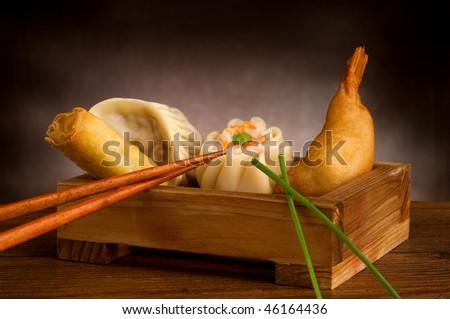 mix chinese food - stock photo