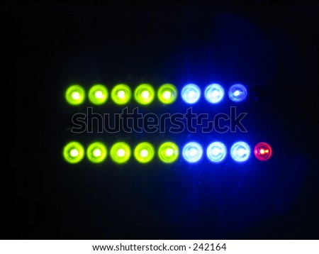 Mix deck lights - stock photo