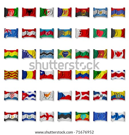Mix Flag-Collection - 1 - stock photo