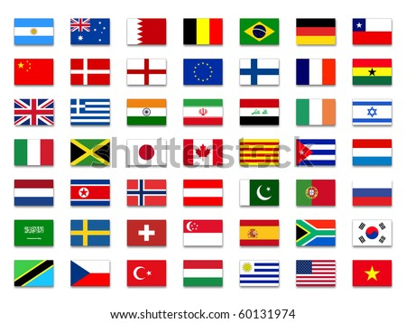 Mix Flags - stock photo