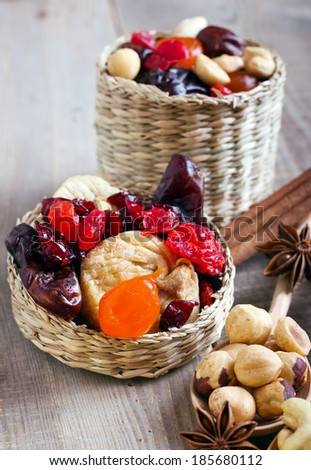 Mix of dried fruits, berries and nuts