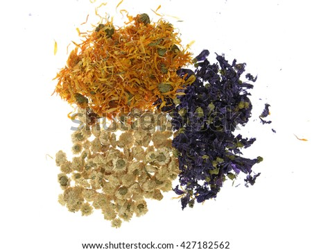 mix of herbs - stock photo