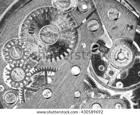 mix of old clockwork mechanical watches