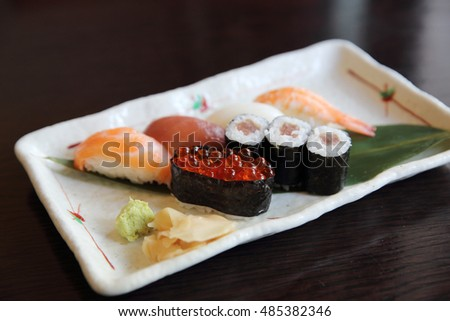 Mix sushi Japanese food