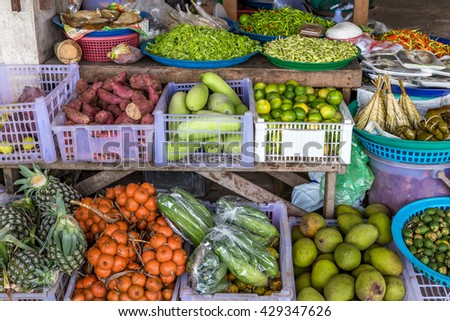 mix vegetable for cooking in the fresh market place